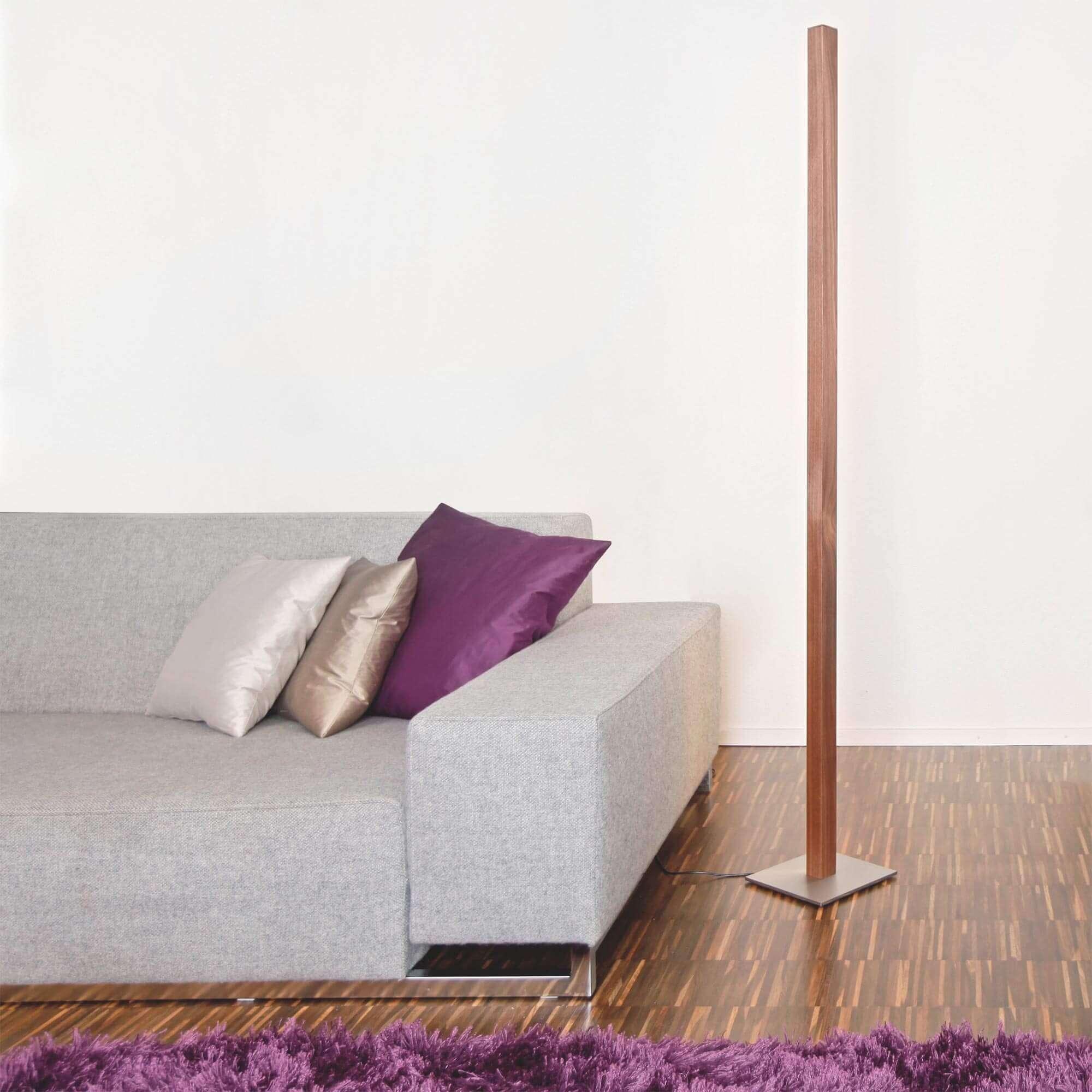 Stehleuchte Eiger 2 Aus Holz Mit Led Swiss Made